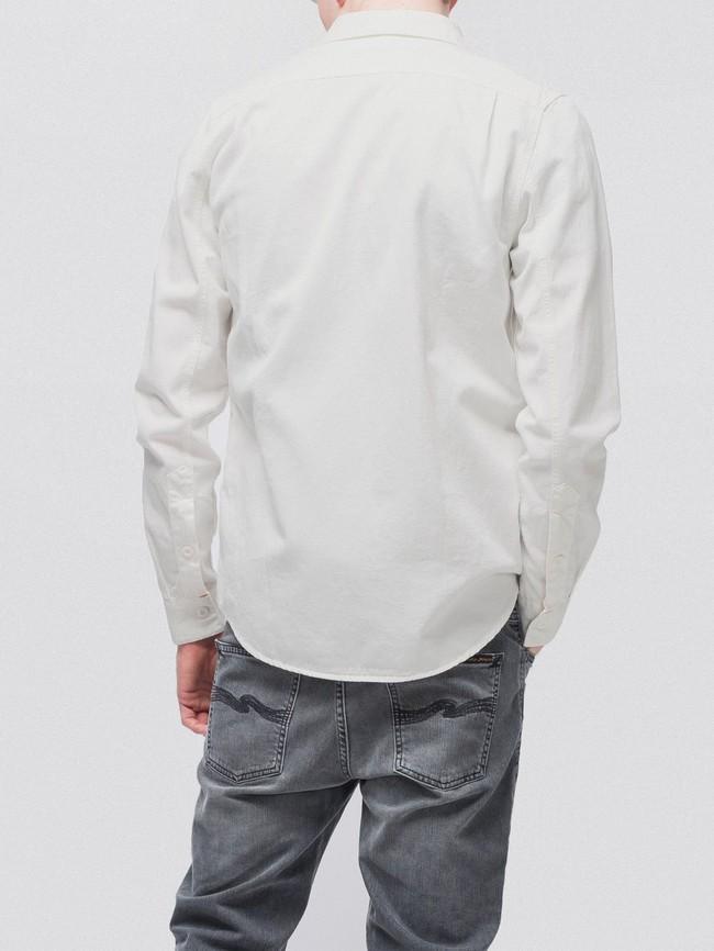 Chemise blanche en coton bio - henry - Nudie Jeans num 3