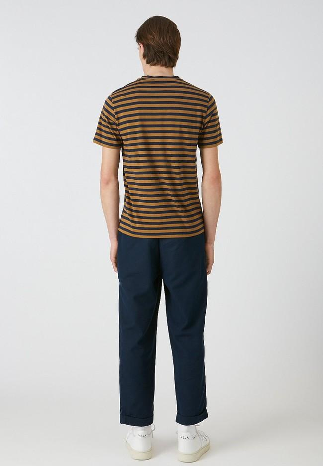 T-shirt rayé en coton bio - jaames breton - Armedangels num 2