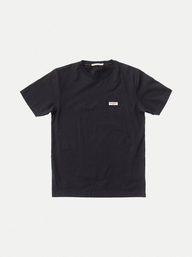 T-shirt noir en coton bio - daniel - Nudie Jeans num 4