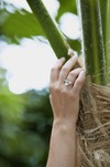 Bague fleur mesua ferrea -argent recyclé - Elle & Sens - 1