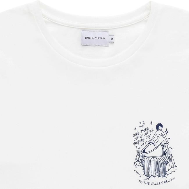 T-shirt en coton bio white coffee ls - Bask in the Sun num 1