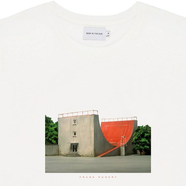T-shirt en coton bio white tennis - Bask in the Sun num 1