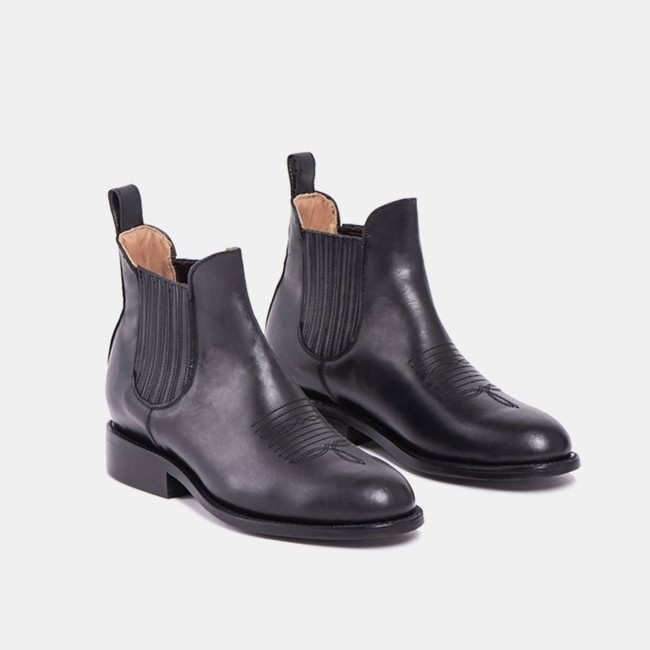 Carlos charro boot black - Cano num 3