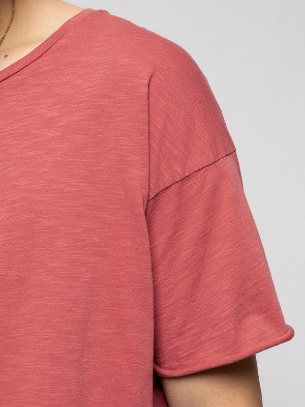 T-shirt corail en coton bio - roger - Nudie Jeans num 5