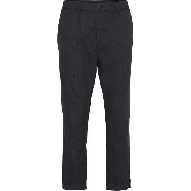 Pantalon à carreaux gris en tencel et coton bio - Knowledge Cotton Apparel