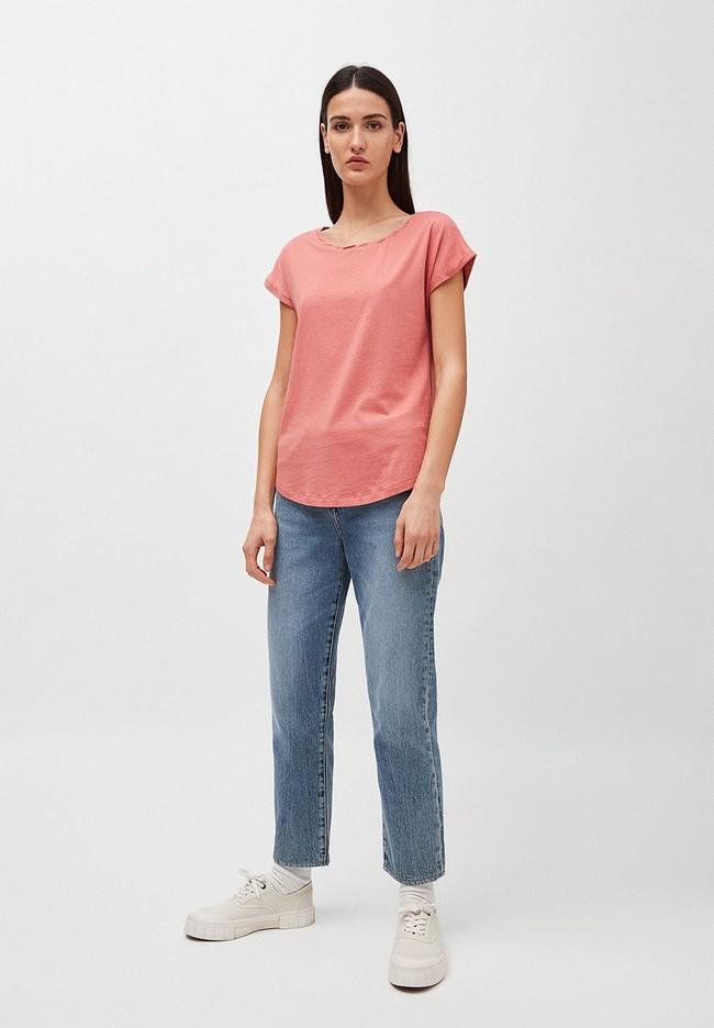 T-shirt uni rose pâle en coton bio - laale - Armedangels num 3