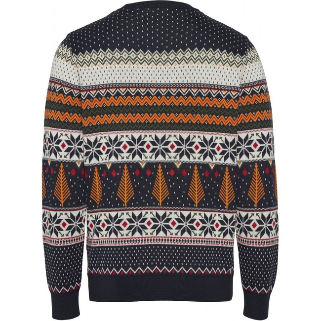 Pull à motifs en coton bio - xmas knit - Knowledge Cotton Apparel num 1