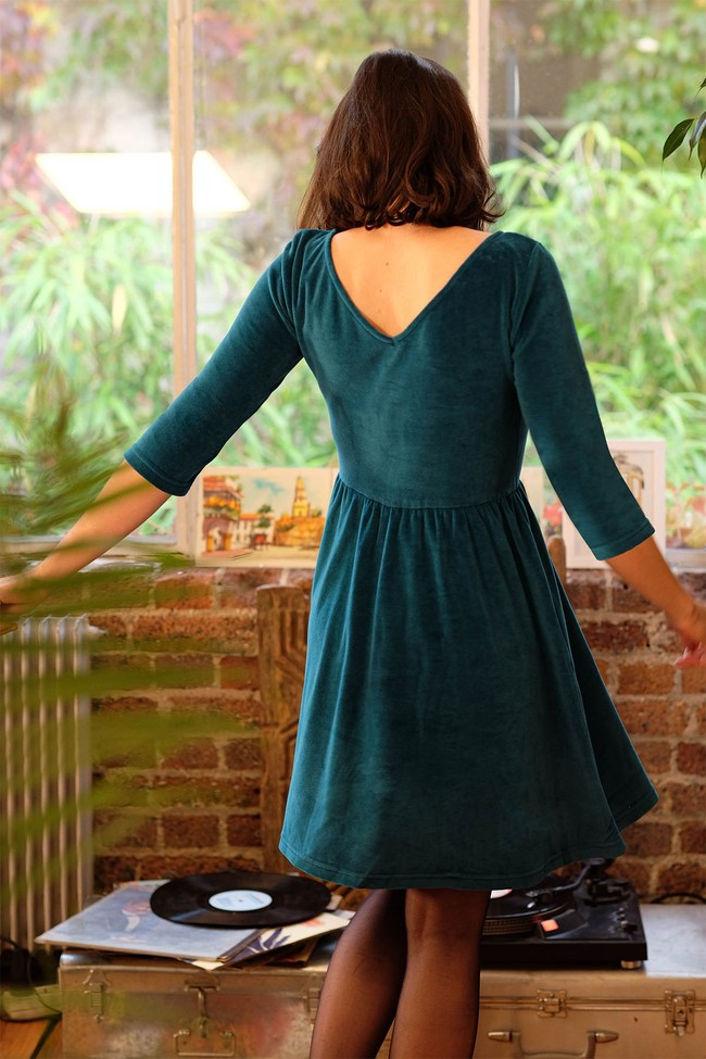 La Robe Ecume en coton bio - rouge - Atelier Unes num 2