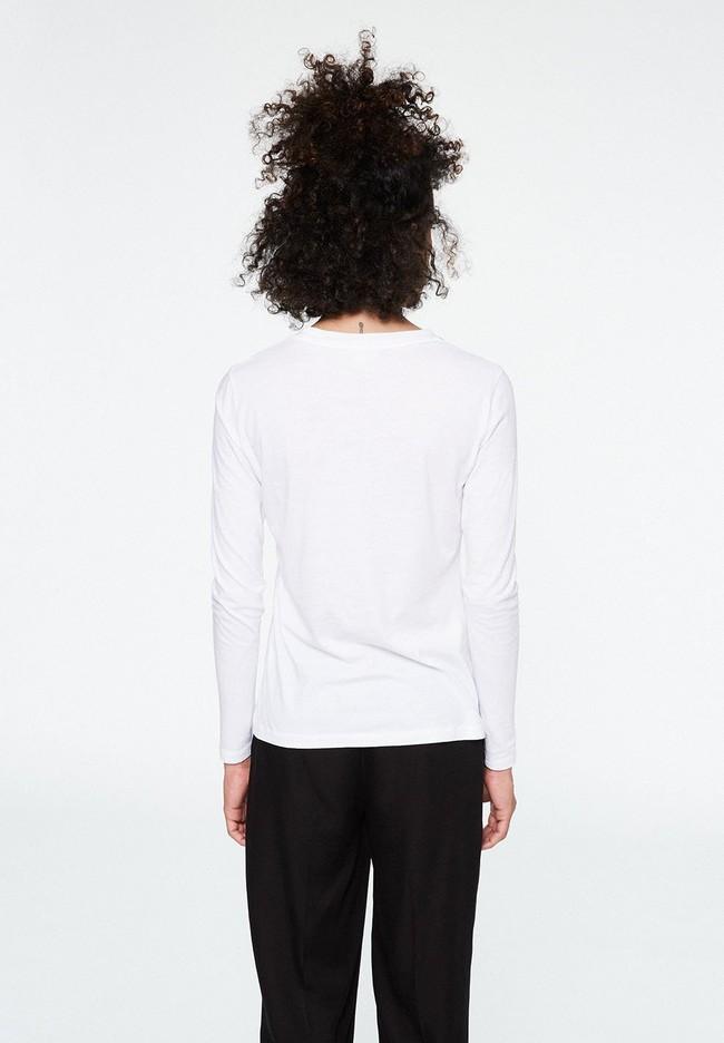 T-shirt manches longues brodé en coton biologique - laraa vespa - Armedangels num 4