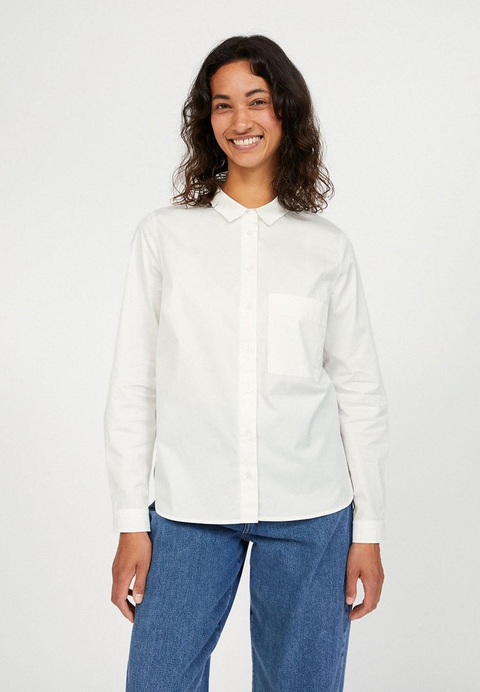 Chemise blanche en coton bio - pernillaa - Armedangels