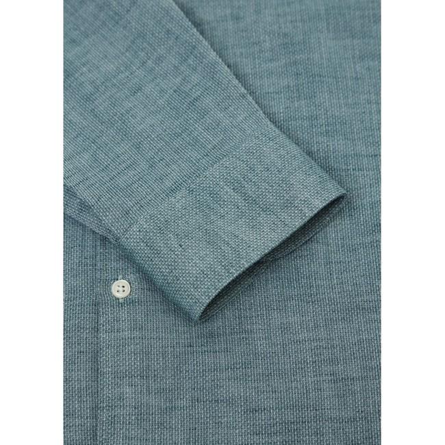 Chemise vert tissé en coton bio - structured shirt - Knowledge Cotton Apparel num 2