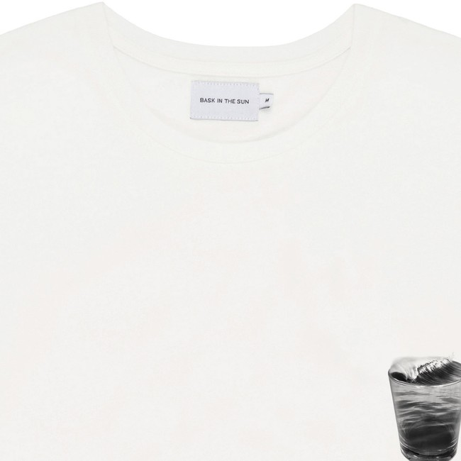 T-shirt en coton bio natural foamy drink - Bask in the Sun num 1