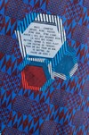 "Veste ""la redoutable"" motif wax non merci - Bleu Tango - 7"