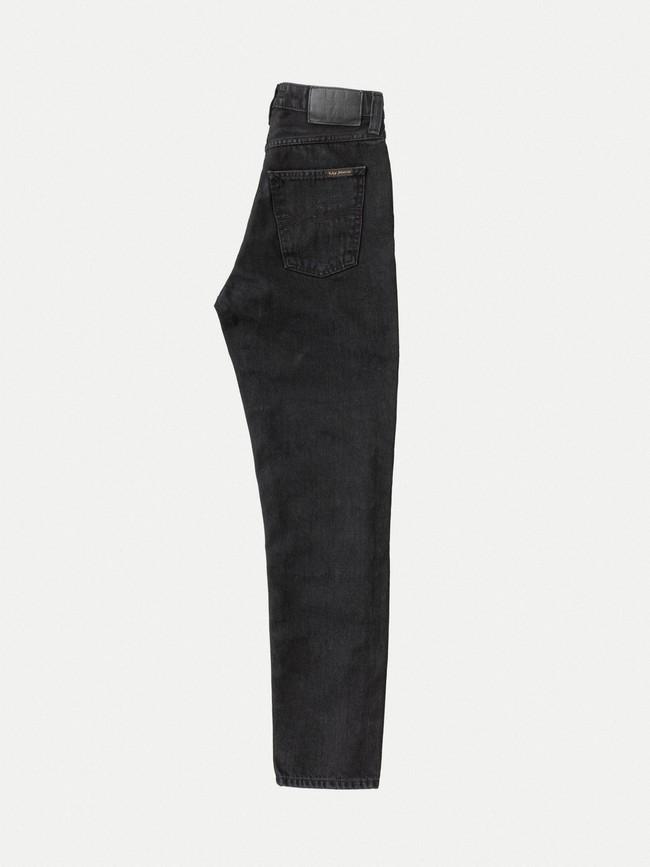 Jean mom noir en coton bio - breezy britt black worn - Nudie Jeans num 5