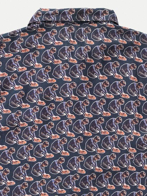 Chemise imprimé manches courtes en tencel - arvid - Nudie Jeans num 6