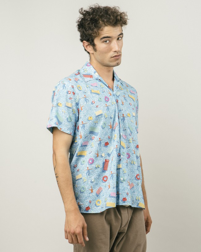 Swimming pool aloha shirt - Brava Fabrics num 3