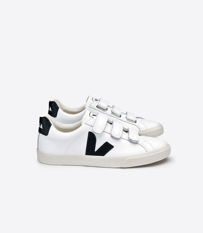 Baskets esplar 3-lock white black - Veja