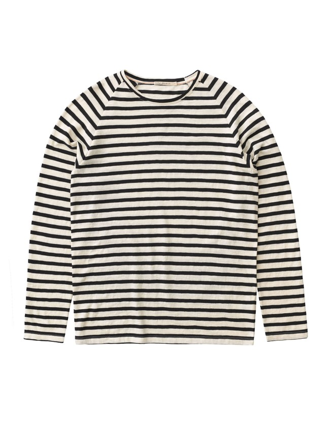 T-shirt manches longues à rayures - otto - Nudie Jeans num 3