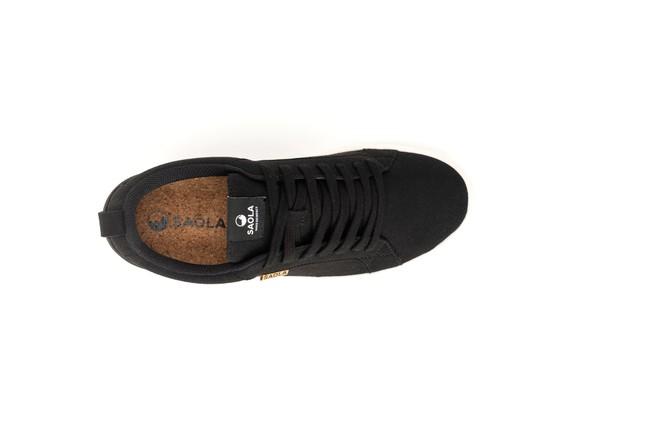Chaussures recyclées cannon femme noir - Saola num 2