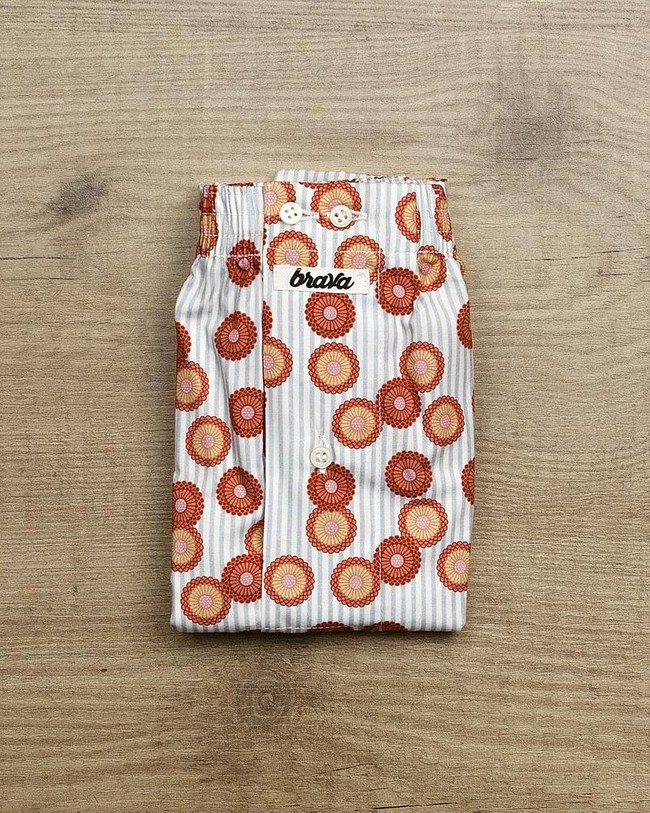 Lotus on a lake boxer - Brava Fabrics num 1