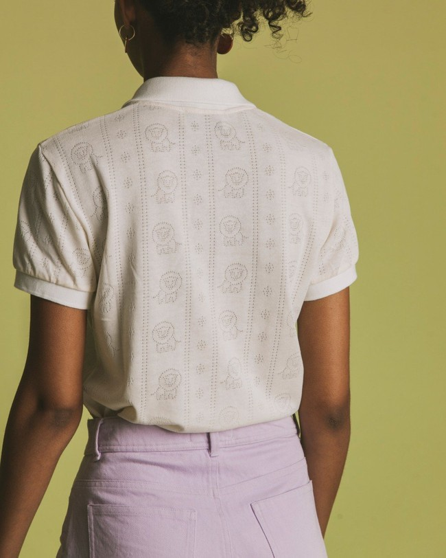Polo écru en tencel et coton bio - luangwa - Thinking Mu num 3