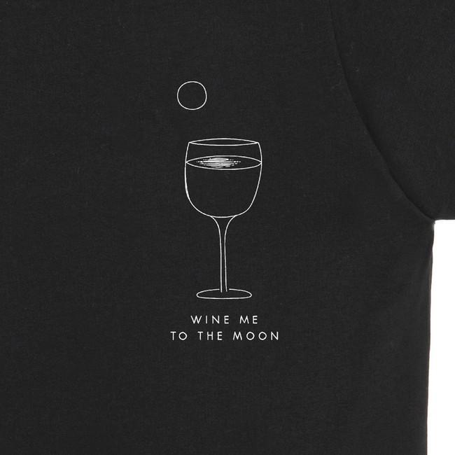 T-shirt en coton bio black wine me - Bask in the Sun num 2