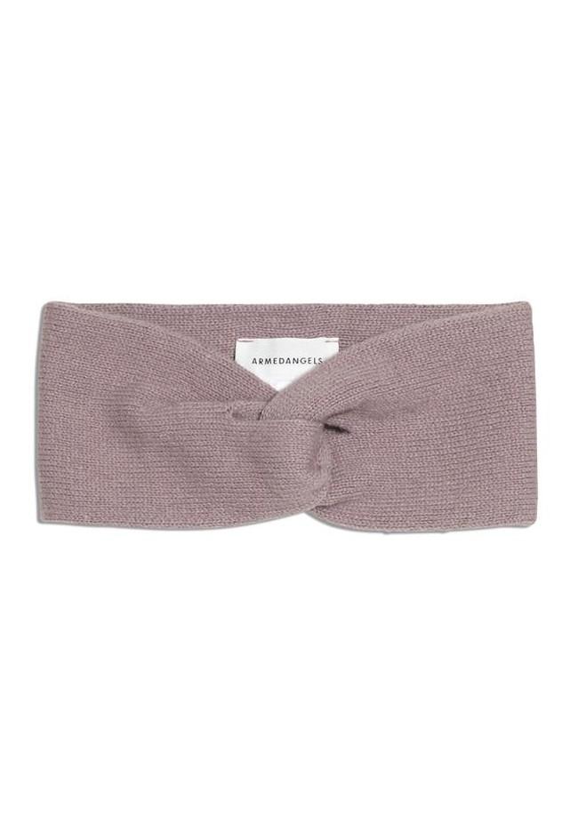 Bandeau rose pâle en coton bio et laine - maritaa - Armedangels