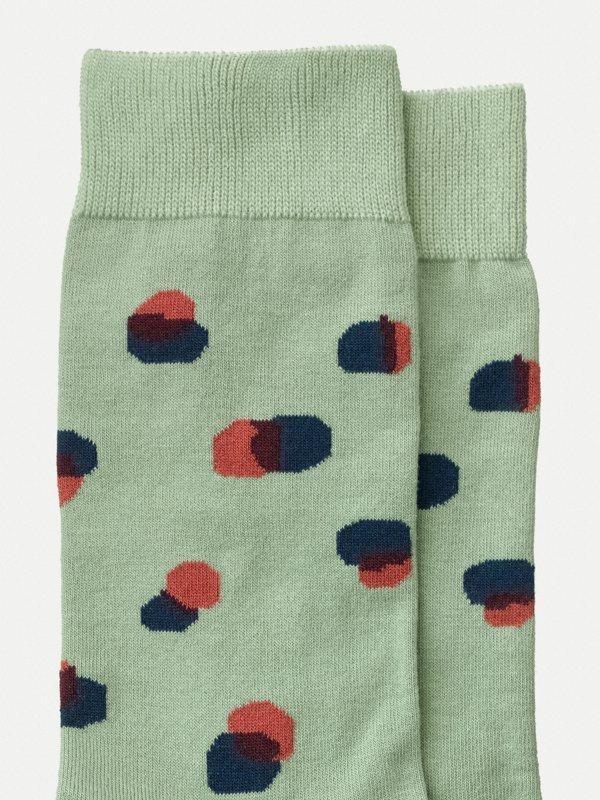 Chaussettes hautes vertes à pois - olsson - Nudie Jeans num 1