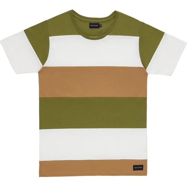 T-shirt en coton bio kaki cenitz - Bask in the Sun