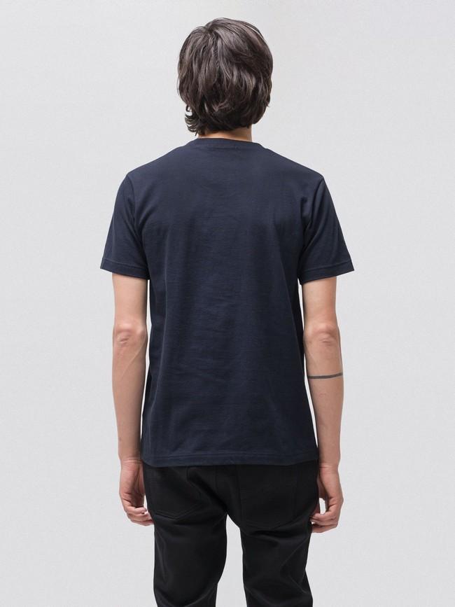 T-shirt bleu marine avec poche en coton bio - kurt - Nudie Jeans num 2