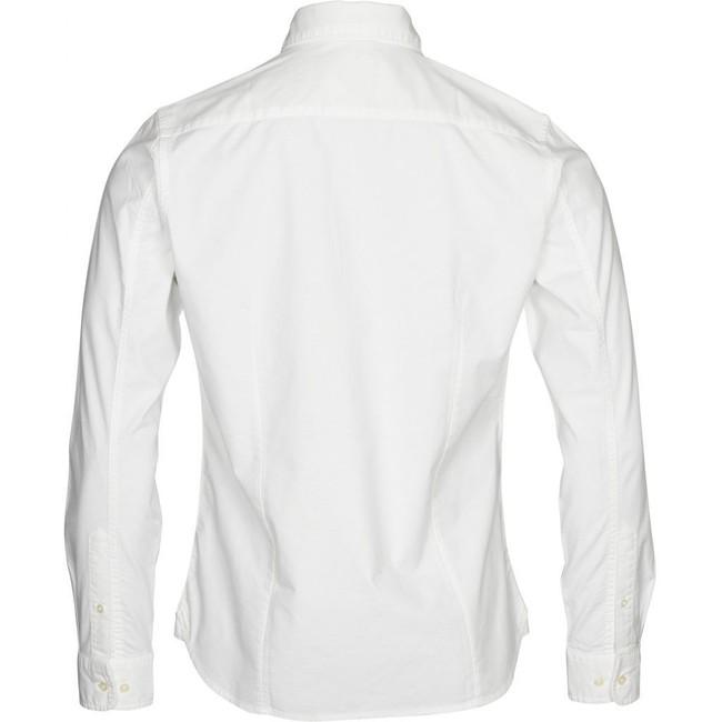 Chemise blanche en coton bio - stretched oxford - Knowledge Cotton Apparel num 1