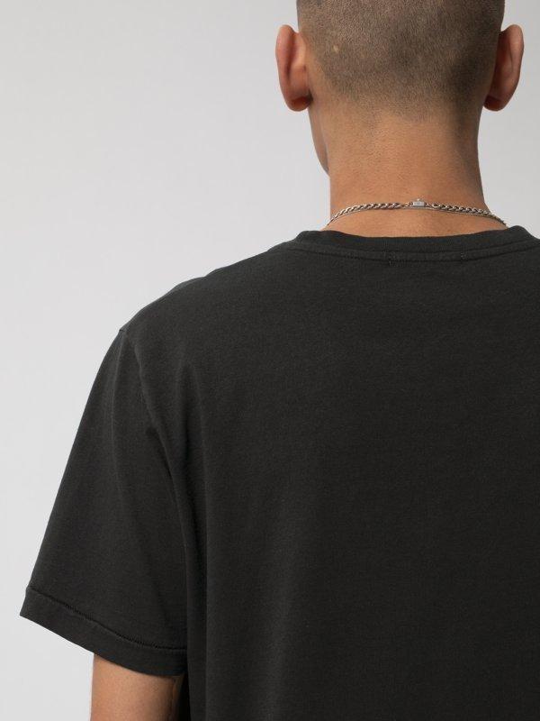T-shirt noir imprimé en coton bio - roy smoke signals back - Nudie Jeans num 4