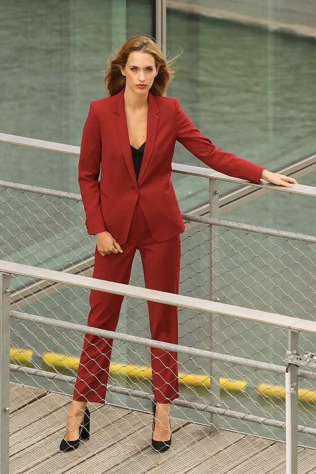 Pantalon tailleur new-york rouge - 17h10 num 2