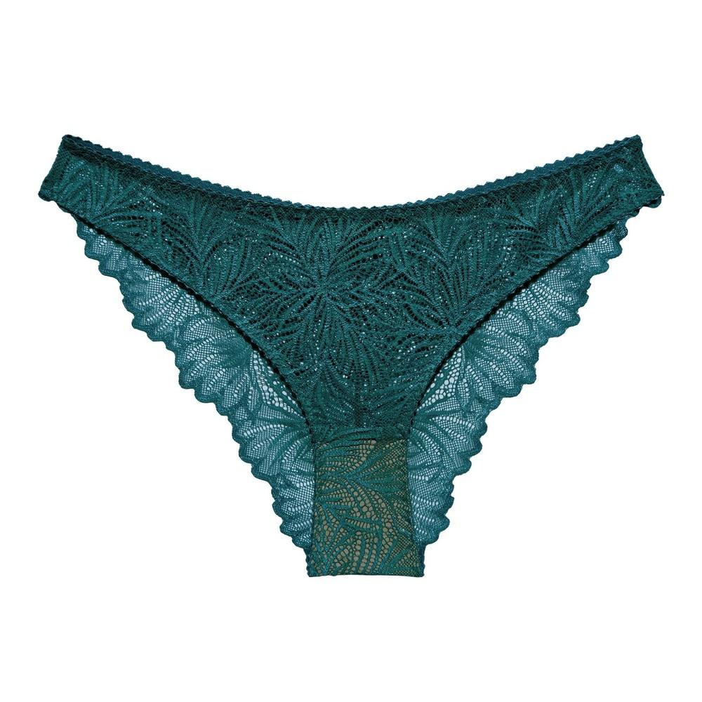 Culotte en dentelle turquoise en élasthanne recyclé - lima - Underprotection
