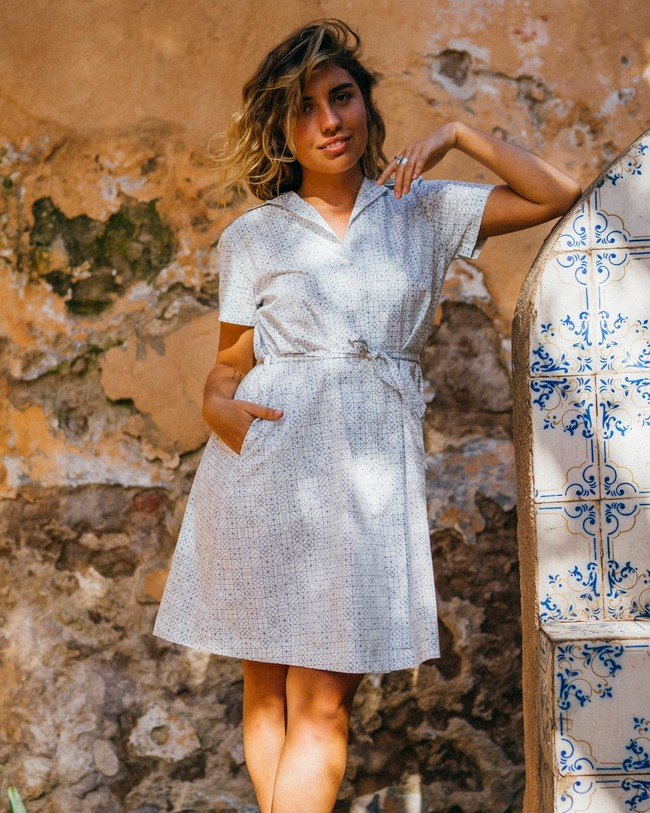 Portuguese tiles shirt dress - Brava Fabrics num 6