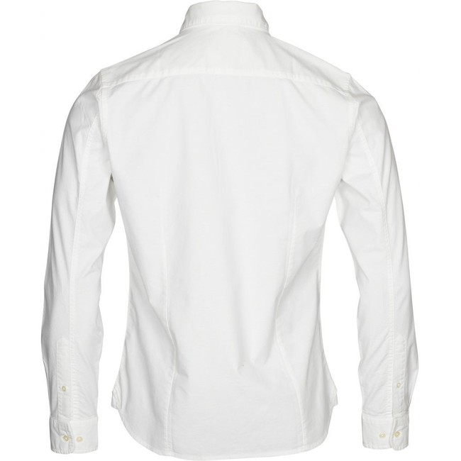Chemise blanche en coton bio - stretched oxford - Knowledge Cotton Apparel num 1