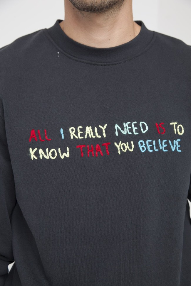 Sweatshirt en coton bio believe - Thinking Mu num 6