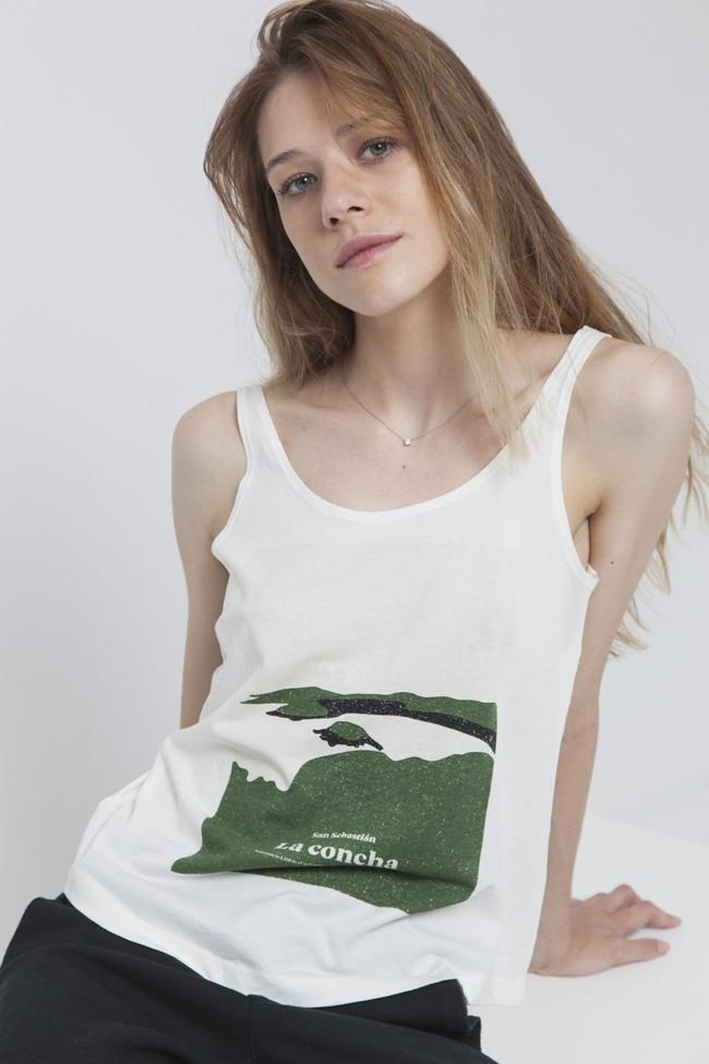 Top imprimé blanc en coton bio - la concha - Thinking Mu num 3