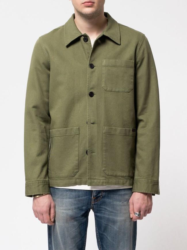 Veste de travail verte en coton bio - barney worker - Nudie Jeans num 2